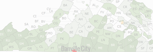 Danville City County Map