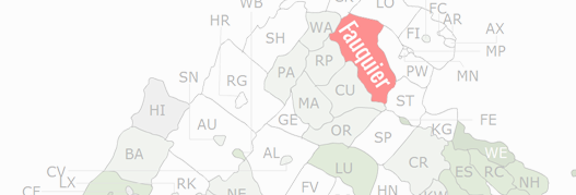 Fauquier County Map