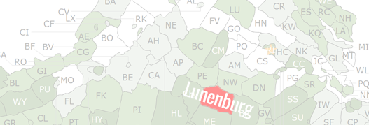 Lunenburg County Map
