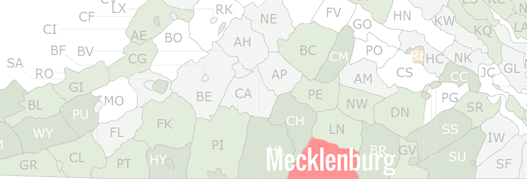 Mecklenburg County Map